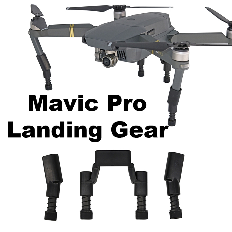 Landing Gear Kits for DJI Mavic Pro Platinum Drone Protector Guard Heightened Extend Leg feet with Spring Shockproof Spare Parts original replacement motor arm for dji mavic pro drone arm with motor landing gear leg repair kits accessiories spare parts