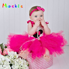 Latest Minnie Dot Girls Party Dresses Fancy Costume Cosplay Kids Tutu Dress Easter Baby Clothes Children Cartoon Party Prom Pink posh dream mickey cartoon kids girl dress for cosplay pink and hot pink dot minnie girl tutu dresses flower girl cosplay dress