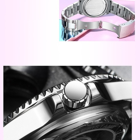 Women Watches Luxury TEVISE Automatic Watch Woman Rotatable Case Montre Femme Mechanical Ladies Wristwatches With Watchband Fix Karachi