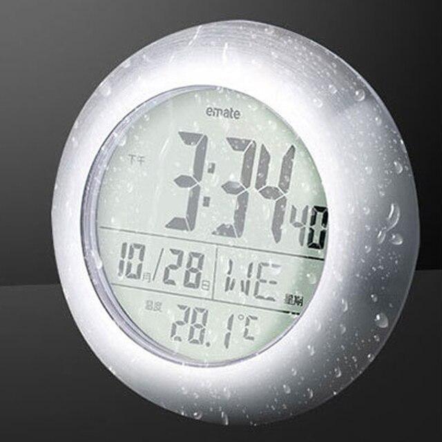 Moderne Uhr emate wanduhr thermometer hygrometer circular wasserdichte uhr