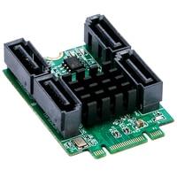 4 Ports SATA 6GB NGFF Controller Card B+M key M.2 ( PCI express ) to 7 SATA III 3.0 converter