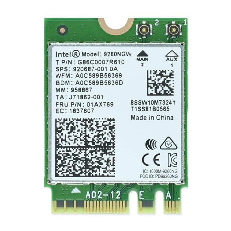 New Intel 9260NGW Dual band AC 9260 9260ac 1730Mbps 9260 ac Bluetoth5.0 NetworkCard Wifi PK 8265 7260 8260