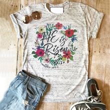 new womens easter shirt he is risen tshirt tee women spring top tees bear girls farms clothes rose print be kind