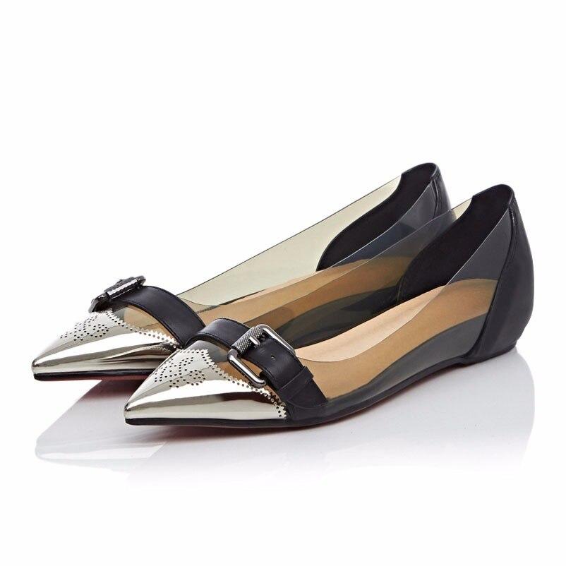 5e3988b0864d Ladies Shoes brand Buckles Women Famous Leather And PVC Designer ...