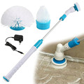 Turbo скраб дома Ванная комната чистке Инструмент Спин щетка для ванны Мощность для очистки ванн Плитки Мощность пол Cleaner кисть Mop скрабы чистк...
