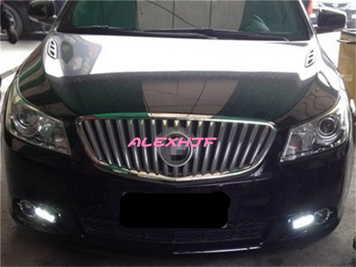 July King LED Light Guide Daytime Running Lights DRL Case for Buick Lacrosse, Front Bumper Fog Lamp, 1:1 Replace, From TAIWAN july king led light guide daytime running lights drl case for toyota land cruiser 2010 12 1 1 replace original decorative frame
