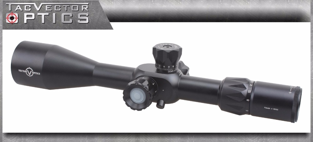 TAC Vector Optics Paladin 4-16x50 FFP First Focal Plane Hunting Rifle Scope Long Eye Relief Sight with Sunshade & Mount Ring marcool evv 6 24x50 sfirgl first focus plane tactical rifle scope