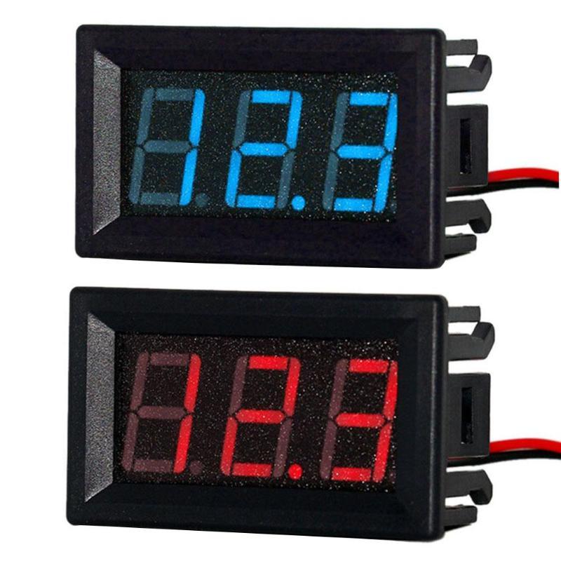 NEW DC7V-150V Mini Digital Voltmeter Tester 0.56in 2-Wire Blue Red LED Display Ammeter Panel Amp Volt Voltage Current Meter