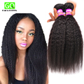 7A Mink Peruvian Virgin Hair Straight 3 Pcs Coarse Yaki Virgin Hair Italian Yaki Human Hair Kinky Straight Hair Weave Bundles