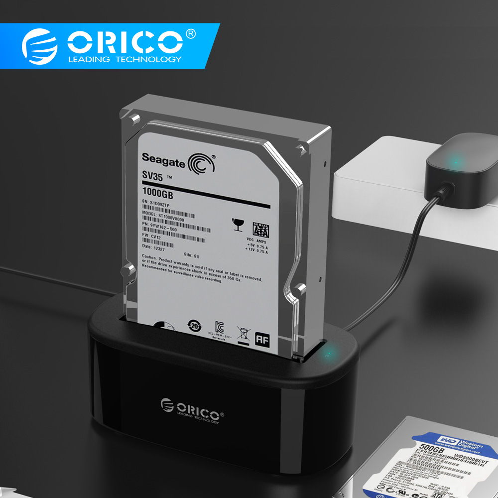 ORICO USAP HDD Docking Station 5 Gbps Super Speed USB 3.0 a SATA Hard Drive Docking Station per 2.5 /3.5 Hard DriveORICO USAP HDD Docking Station 5 Gbps Super Speed USB 3.0 a SATA Hard Drive Docking Station per 2.5 /3.5 Hard Drive