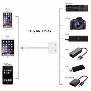 Image 2 - עבור iPhone iPad 5V תאורה 8Pin לייטנינג ל usb USB 3 מצלמה מתאם ממיר כבל OTG נתונים סנכרון חיצוני מקלדת מחבר
