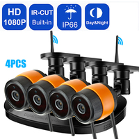 2Ch 4Ch Wireless CCTV System 1080P Outdoor Video Surveillance System Night Vision IP66 Security Camera 2