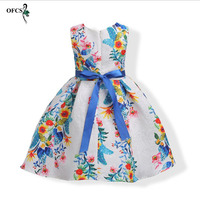New Retail Style Summer Baby Girl Print Flower Children S Clothes Dress Wedding Girls Party Dress