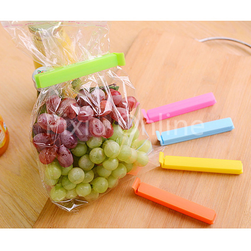 5Pcs/Lot ST205b Food Storage Seal Sealing Bag Clips Sealer Clamp Keeping Food Fresh 5 Colors Sealing Clips 155cm a cup small breast big ass japanese full silicone sex dolls skeleton real love doll artificial girl sex realistic vagina