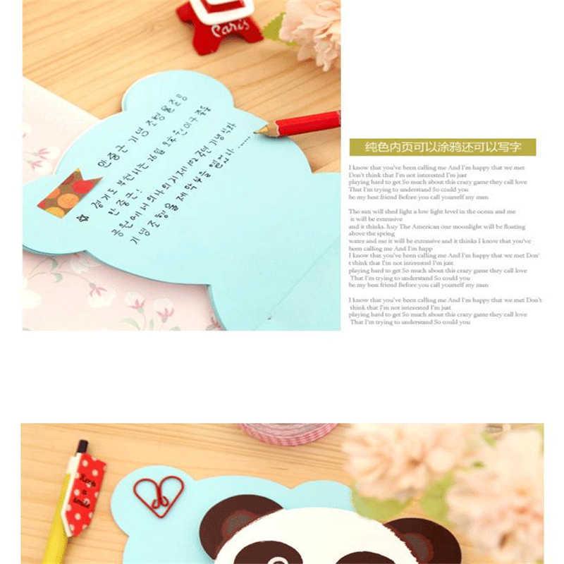 دل F014 japansk og koreansk tegneserie brevpapir لطيف وجه كبير المفكرة farve papir inde الجانب dagbog noter
