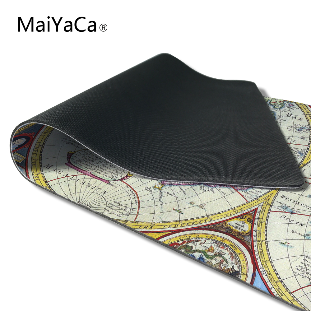 MaiYaCa Old Map Design Mouse Mat Silica gel Gaming Mice Pad Christmas Gifts 30x60cm For CS Go Dota 2