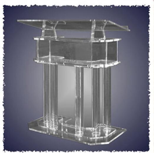 Clear Acrylic Church Pulpit Podiums /Rostrum/PMMA Pulpit Acrylic Reception Display  Podium Lectern