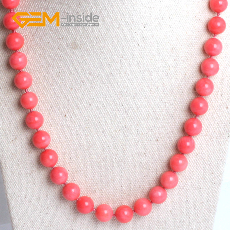 New Genuine South Sea Coral Round Beads Necklace Noble Style Natural Fine Jewelry Free Shipping For Women Party Christmas Gift