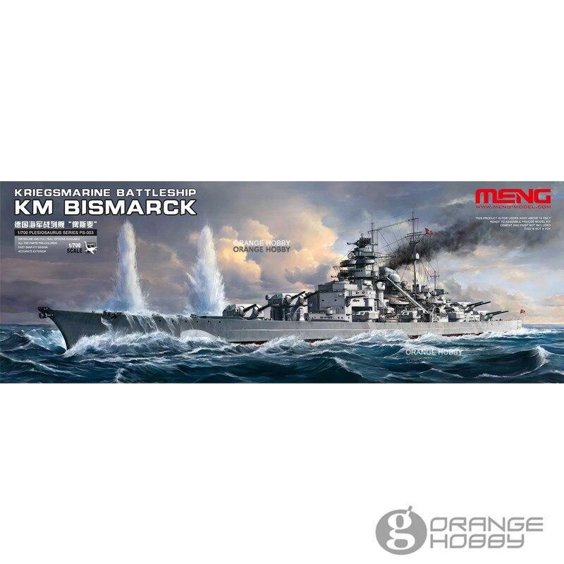 OHS Meng PS003 1/700 KM Bismarck BattleShip Assembly Scale Navy Model Building Kits oh 1 700 scale 30cm plastic wwii warship japanese yamato battleship model kits