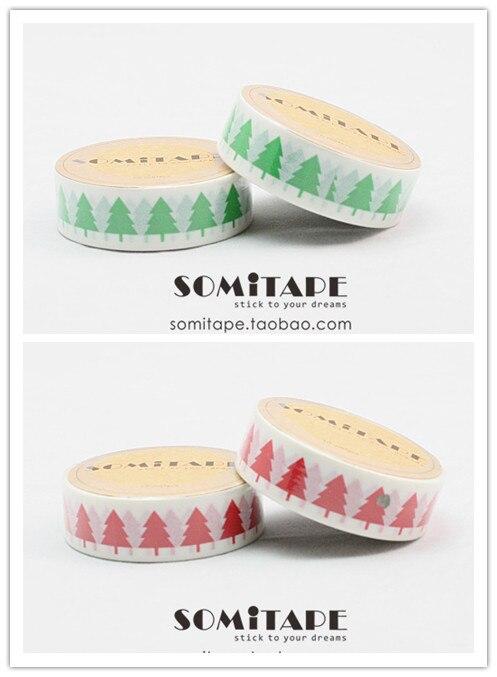 somitape decoracao da arvore de natal fita de papel diy handmade fita