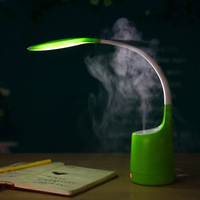 Creative 16 LEDs Fashion Table Lamp With Humidifier Intelligent USB Charging Eye Protection Bedside Desk Lamp