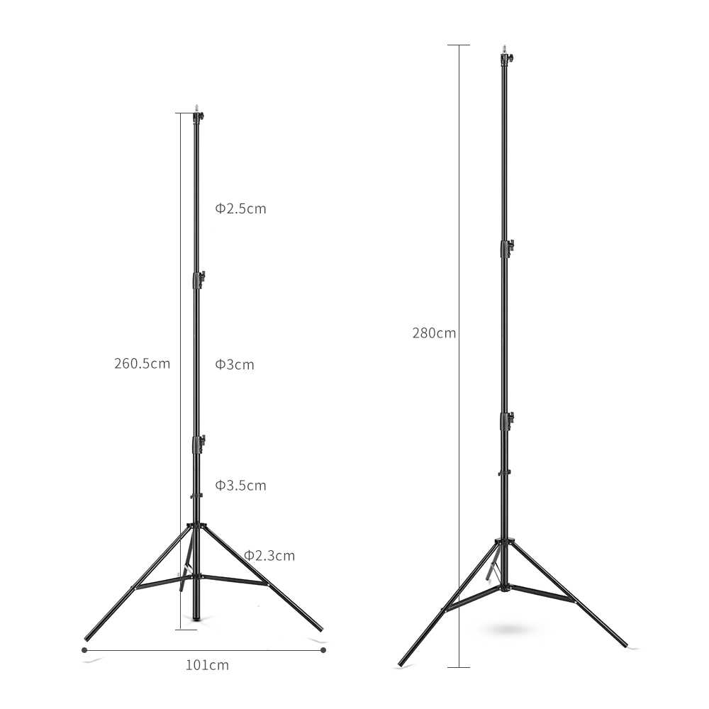 improved 2 8 meter 9 ft heavy duty impact air cushioned video studio light stand  [ 1000 x 1000 Pixel ]