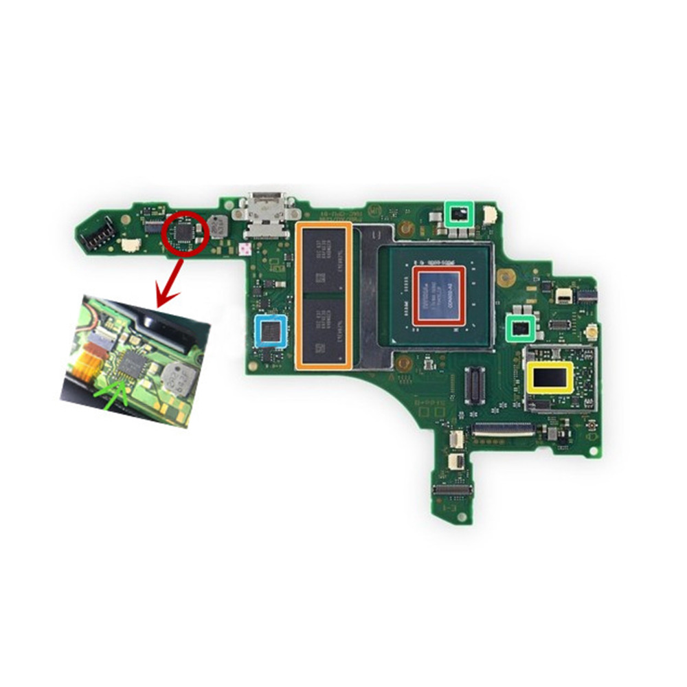 Replacement Console Motherboard Mainboard For Nintendo Switch NS Switch Battery Charging IC Chip Original Repair Parts