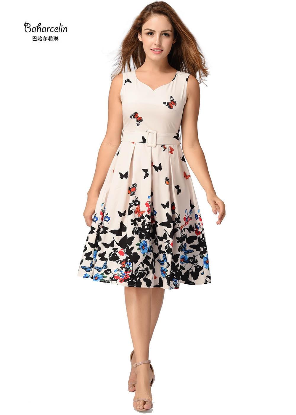 Baharcelin Vestidos 2017 New Summer Dress Sleeveless