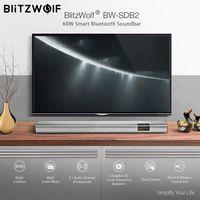 В наличии BlitzWolf 60 Вт Smart Soundbar 2,1 аудио канал и сабвуфер, 6 динамиков и 2 низкочастотных радиаторов для ТВ ПК с Coaxi
