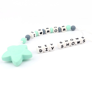 Image 5 - TYRY.HU 500pc Silicone Letter Beads BPA Free Food Grade DIY Baby Bracelets Chewing Jewelry Teethers Necklace pacifier clip
