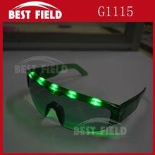 Вспышка светодиодный Оски с подсветкой очки с батареей Вечерние Маски для DJ/вечерние/рождественские праздники