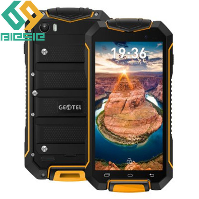 Geotel A1 Cell phone Waterproof 4.5'' MTK6580T Quad-core Android 7.0 1GB+8GB 1.3GHz 3400mAh Battery WCDMA Mobile phone