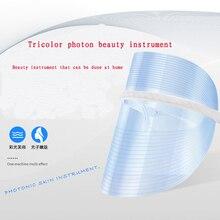 Led Beauty Mask Spectrometer New Red Blue Orange mask photon rejuvenation instrument beauty home portable USB