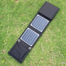 BUHESHUI 14W Sunpower Foldable Solar Charger Portable Solar Charger For 5V Output Devices Dual USB 2PCS/Lot Free Shipping