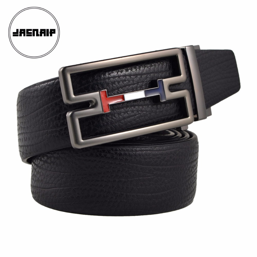 Famous Brand Business Automatic Alloy Buckle Men   Belts   High Quality Genuine Leather Male Strap utomatic Buckle Classic Male   Belt