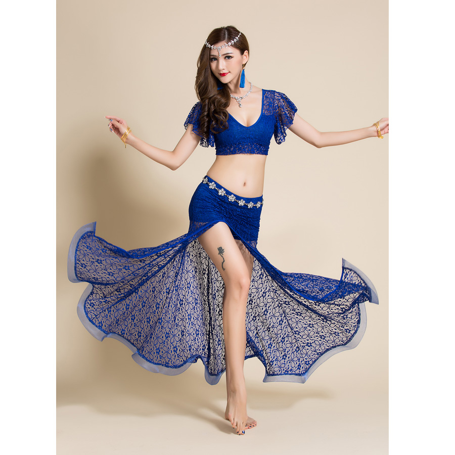 2-Pieces-Women-Belly-Dance-Costume-Lace-Top-Long-Skirt-Sexy-Outfits-Dancewear-V-neck-Bellydance (1)