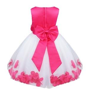 Image 3 - Tiaobug infantil vestido de flor infantil meninas vestidos pétalas elegante pageant formal vestido da menina de flor para vestidos de festa de casamento