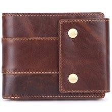 7705b38aa15 Vintage Echt Leder Mannen Wallet oge Kwaliteit Korte Ontwerp Bruin  Portefeuilles Credit Card Houders Grote Capaciteit Man Portem.