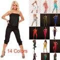 14 Colores para Elegir Venta Caliente de Las Mujeres Sin Tirantes Generales de Partido Atractivo de Bodycon Mono Mono Verano de Las Mujeres Ocasionales