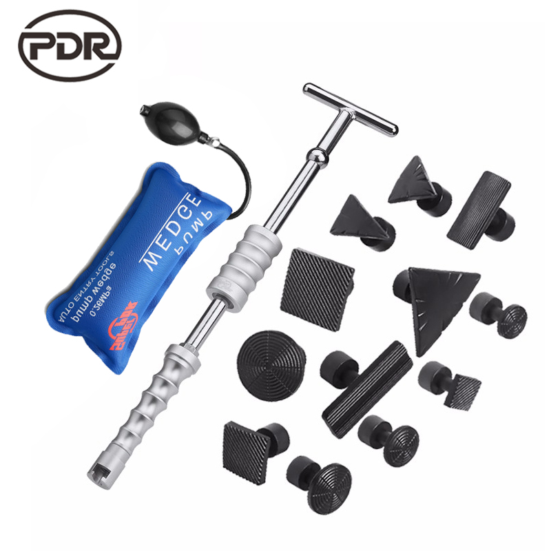 ФОТО PDR Tools Kit Paintless Dent Repair Dent Removal Tools Dent Puller Slide Hammer Black Glue Tabs Suction Cup Suckers Fast Ship