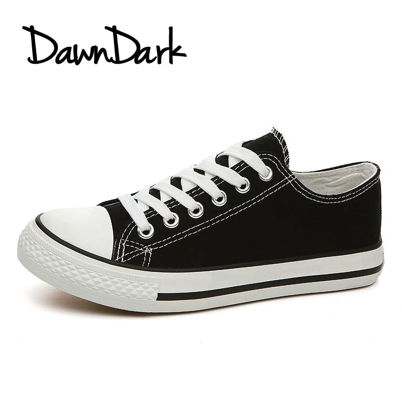 Miehet Rento Kengät Kevät Kesä Musta Valkoinen Mies Flat Canvas - Miesten kengät