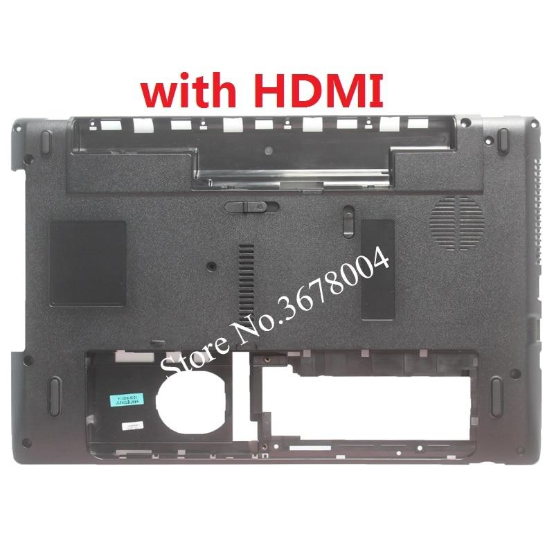 New Laptop D Cover For Packard Bell MS2291 Bottom case Base Black black lace details bell bottom pants
