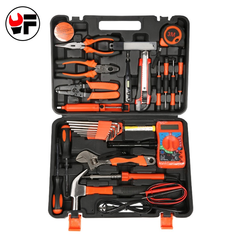 35pcs Combination electricial tool accessories repair hand tool wrench plier screwdriver household multi tool kit Herramientas free shipping 9pc stock hand tool set wrench screwdrivers sockets plier conjunto de ferramenta manual motorcycle repair tool kit
