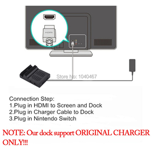 Image 5 - ABS raffreddamento dissipazione del calore tipo C TV Dock Base supporto 4K Video USB 3.0 HDMI Dock Station di uscita per nintendo Switch Host Stand
