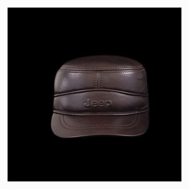 Utumn и зимой высокое качество коровьей крышка бейсбольная кепка мужчина натуральная кожа шляпа мужской открытый колпачок для человека B-0566