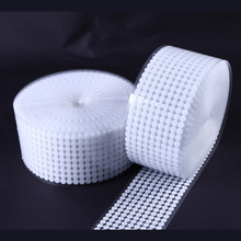 50 Pairs 10/15/20/25mm Hook Loop Tape Disc Coin Self Adhesive Fastener Tape DIY handmade Black White Strong Glue Magic Sticker 2 5cm 5m pairs black white magic tape hook and loop self adhesive fastener tape strip with strong glue for home supplies