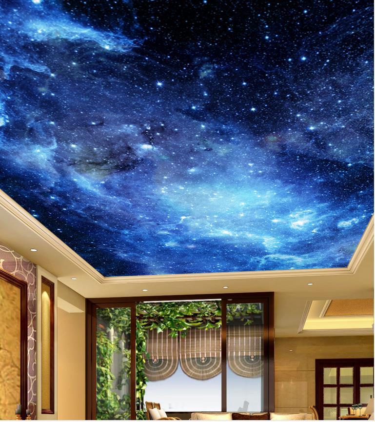 Aliexpress.com : Buy Blue sky ceiling Landscape wallpaper ...