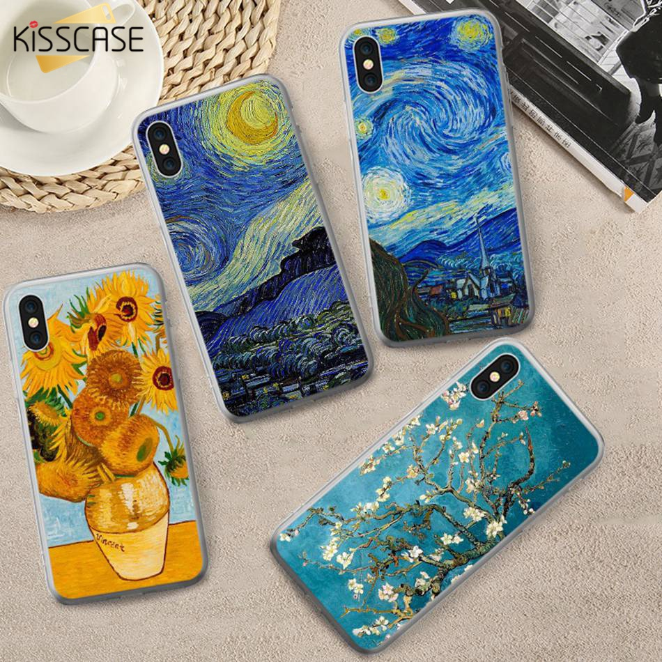 Phone Bags & Cases Dashing Kisscase Oil Painting Phone Case For Samsung Galaxy Note 9 S9 S8 Plus Soft Tpu Case For Samsung Galaxy A5 A7 A3 2016 2017 Coque Fitted Cases