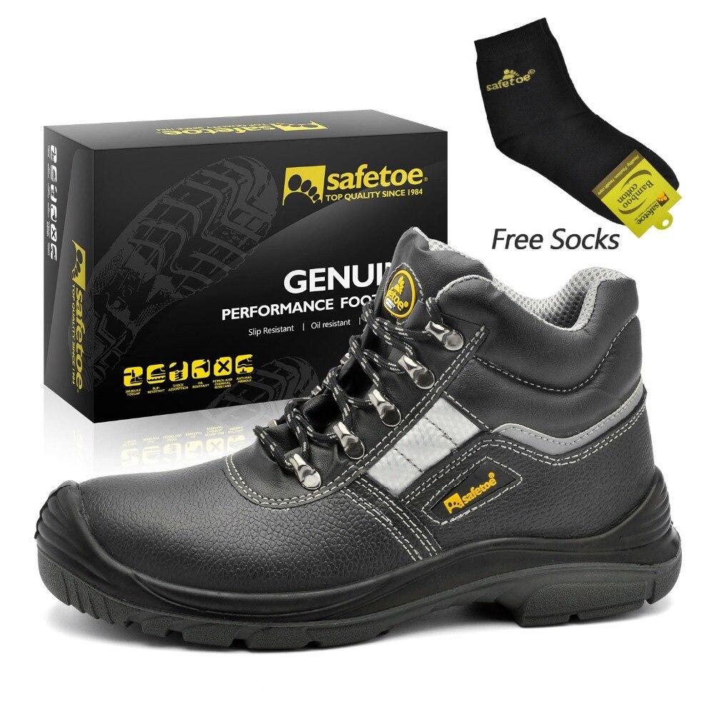 Werkschoenen Met Stalen Tip.Safetoe Mannen Veiligheidsschoenen Veiligheid Laarzen Werkschoenen