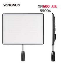 YONGNUO YN600 Air Ultra Thin LED Camera Video Light Panel 5500K and 3200K-5500K Photography Studio Lighting for Canon Nikon Sony